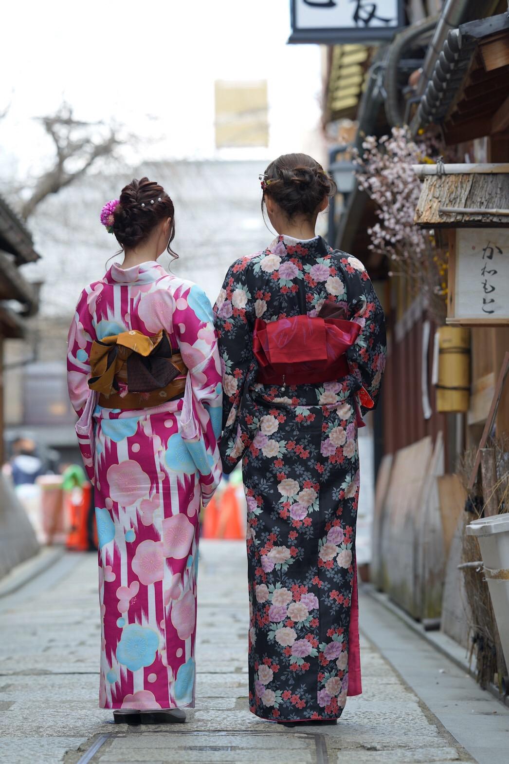 卒業旅行に着物で伏見稲荷大社へ♪2019年3月13日11