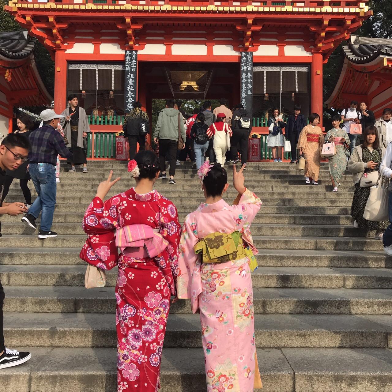 着物を着て、皆で二条城で記念撮影♡2019年3月20日2