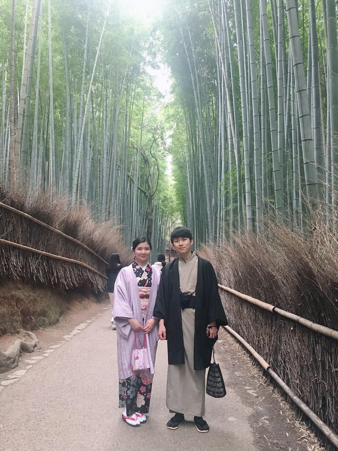 カップルで嵯峨嵐山 竹林の小径へ♡2019年3月6日10