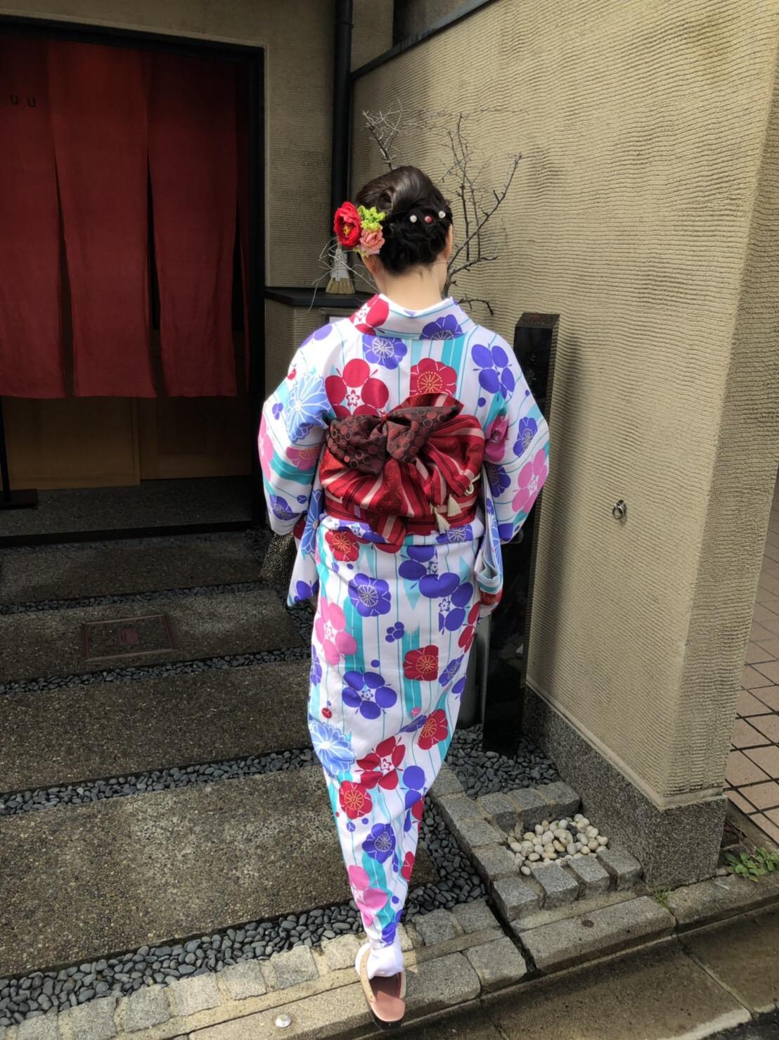 卒業の思い出に皆で京都で着物レンタル♪2019年3月17日11