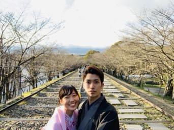 卒業の思い出に皆で京都で着物レンタル♪2019年3月17日5