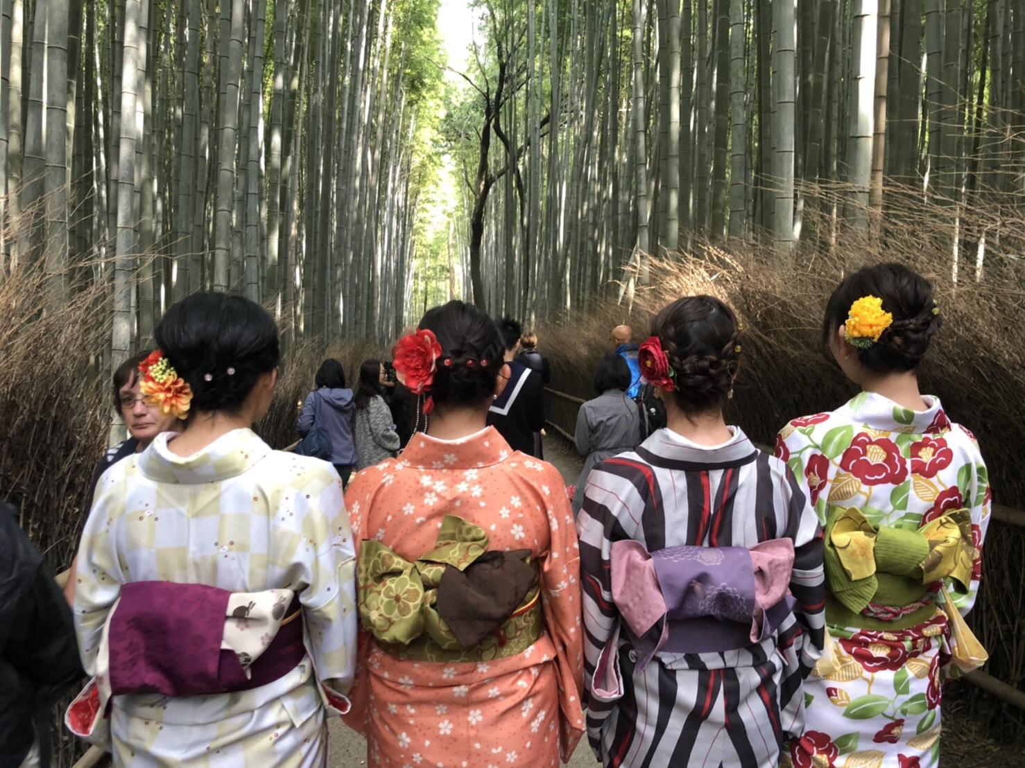 複数組のリピーター様♡春の京都へ♪2019年3月27日11