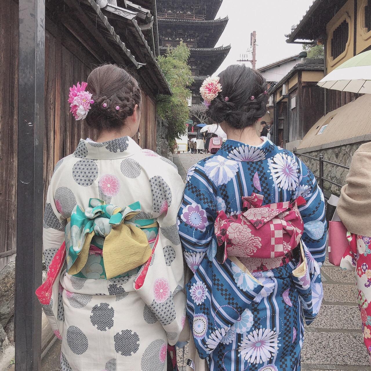 卒業の思い出に皆で京都で着物レンタル♪2019年3月17日4