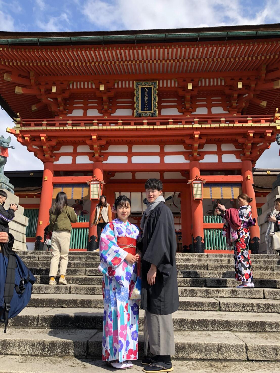 卒業の思い出に皆で京都で着物レンタル♪2019年3月17日6