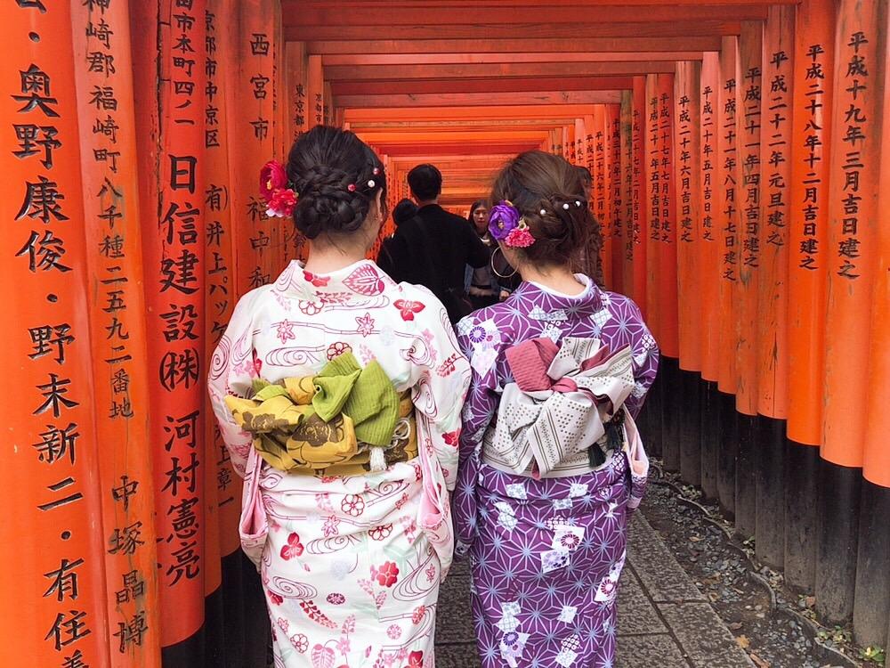 卒業の思い出に皆で京都で着物レンタル♪2019年3月17日9