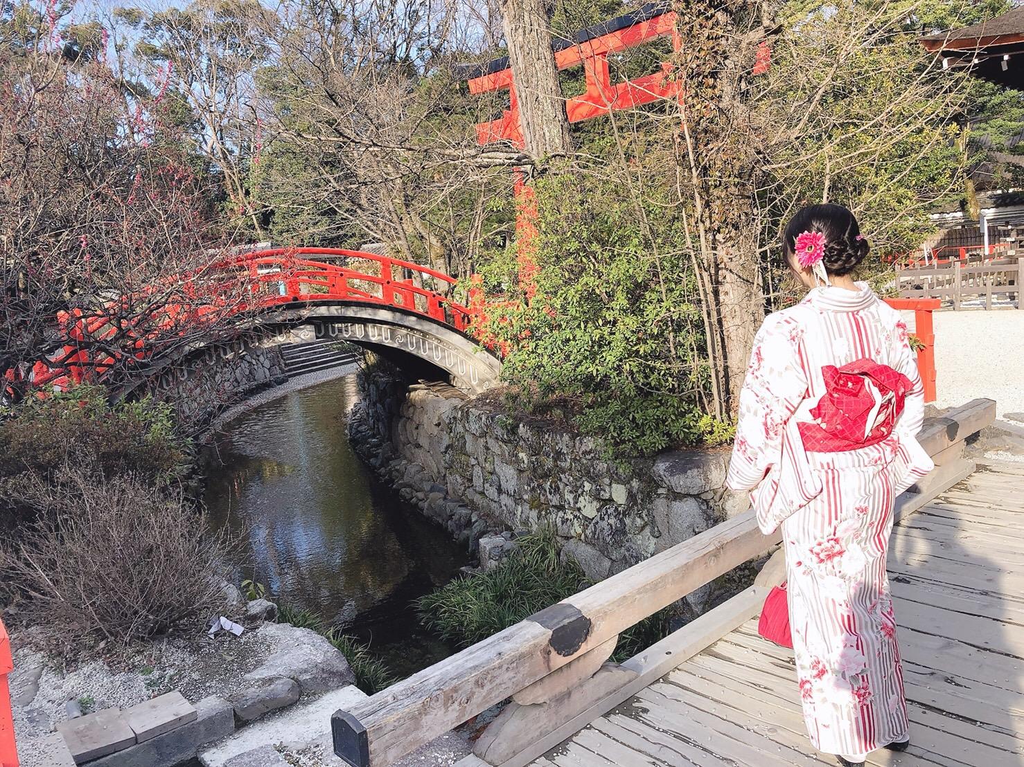 卒業旅行に着物で伏見稲荷大社へ♪2019年3月13日15