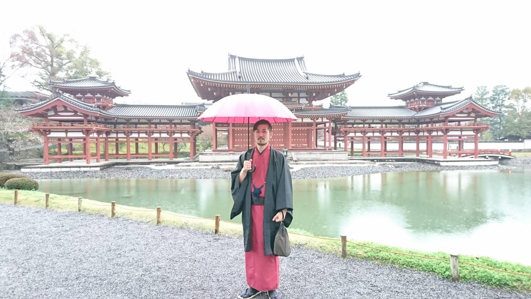 リピーター様❣カップルで雨の宇治平等院鳳凰堂へ♡2019年3月30日16