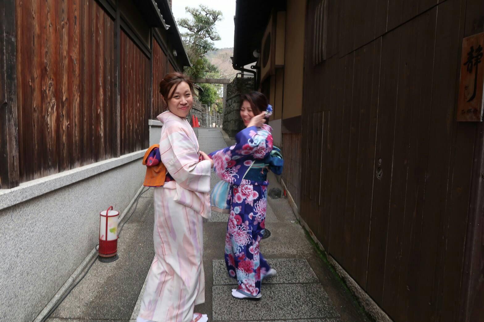 卒業の思い出に皆で京都で着物レンタル♪2019年3月17日14
