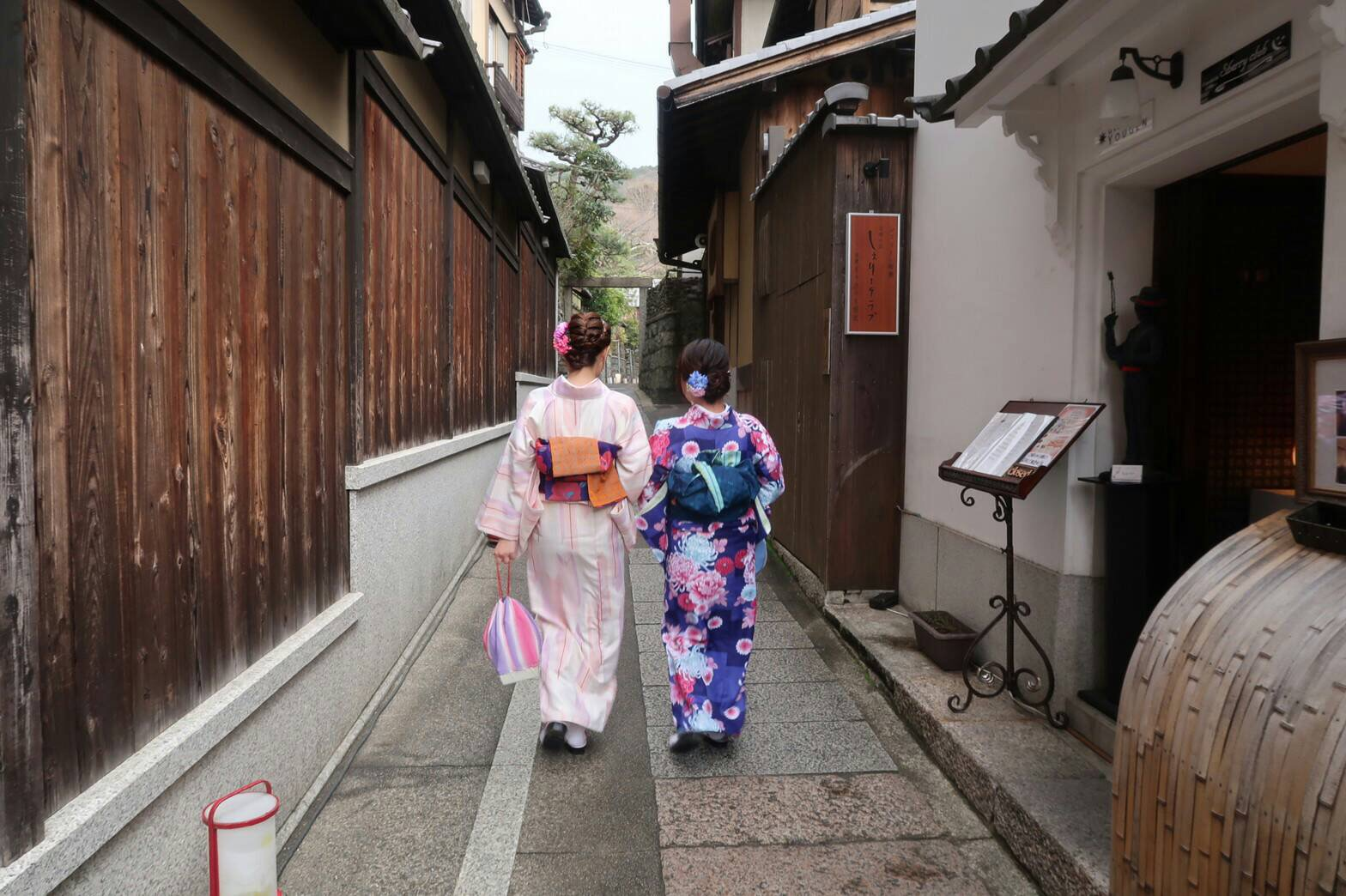 卒業の思い出に皆で京都で着物レンタル♪2019年3月17日13