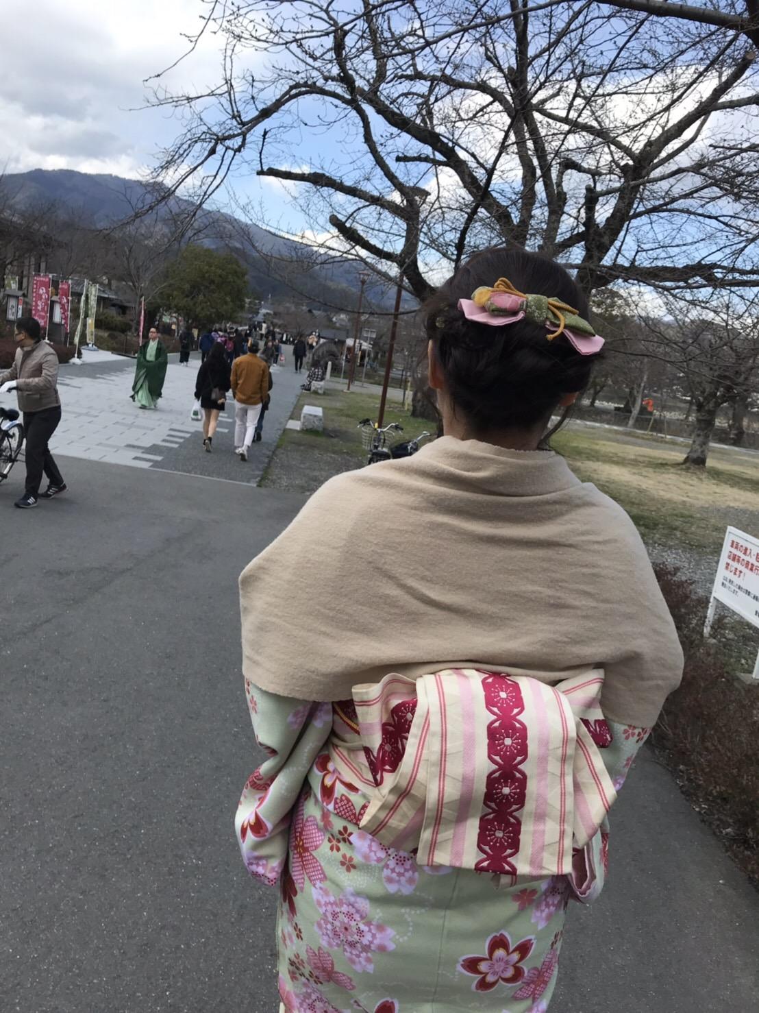 卒業旅行に着物で伏見稲荷大社へ♪2019年3月13日31