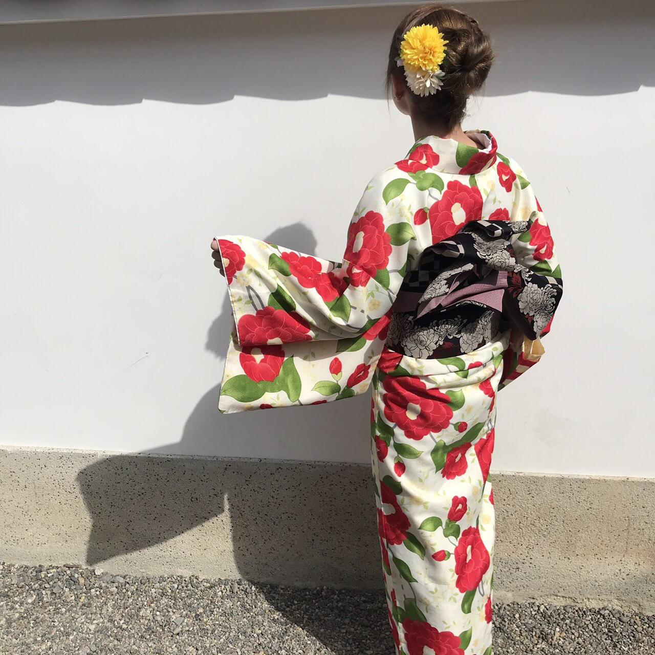 卒業旅行に着物で伏見稲荷大社へ♪2019年3月13日2