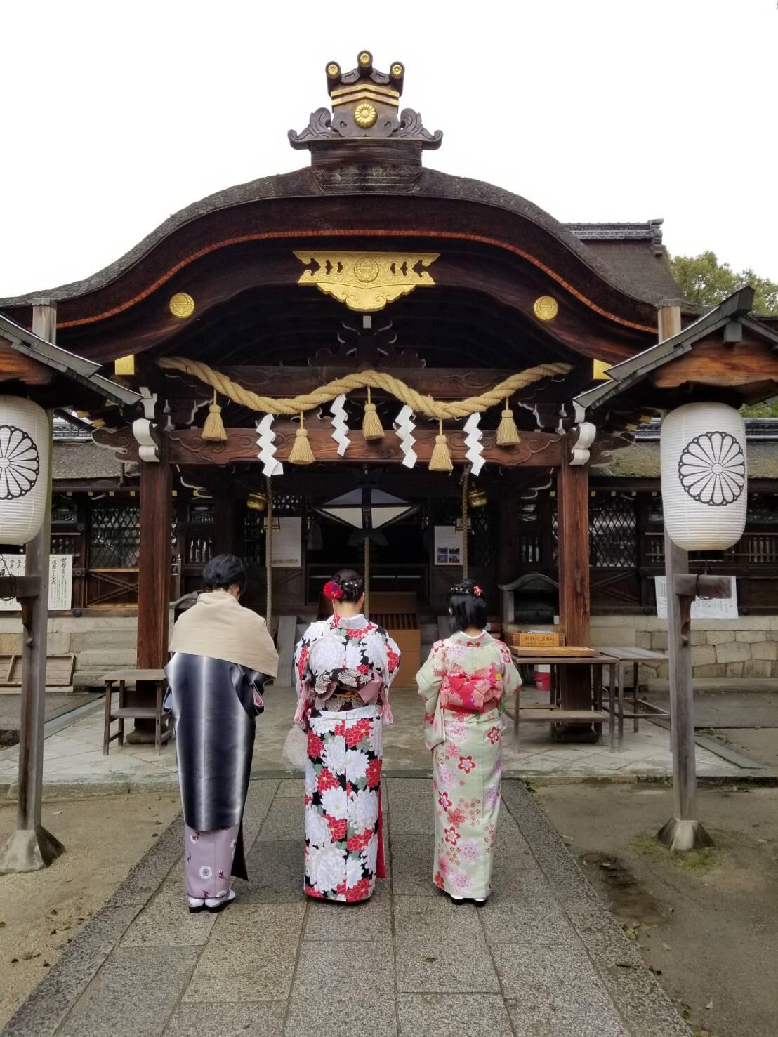 卒業の思い出に皆で京都で着物レンタル♪2019年3月17日1