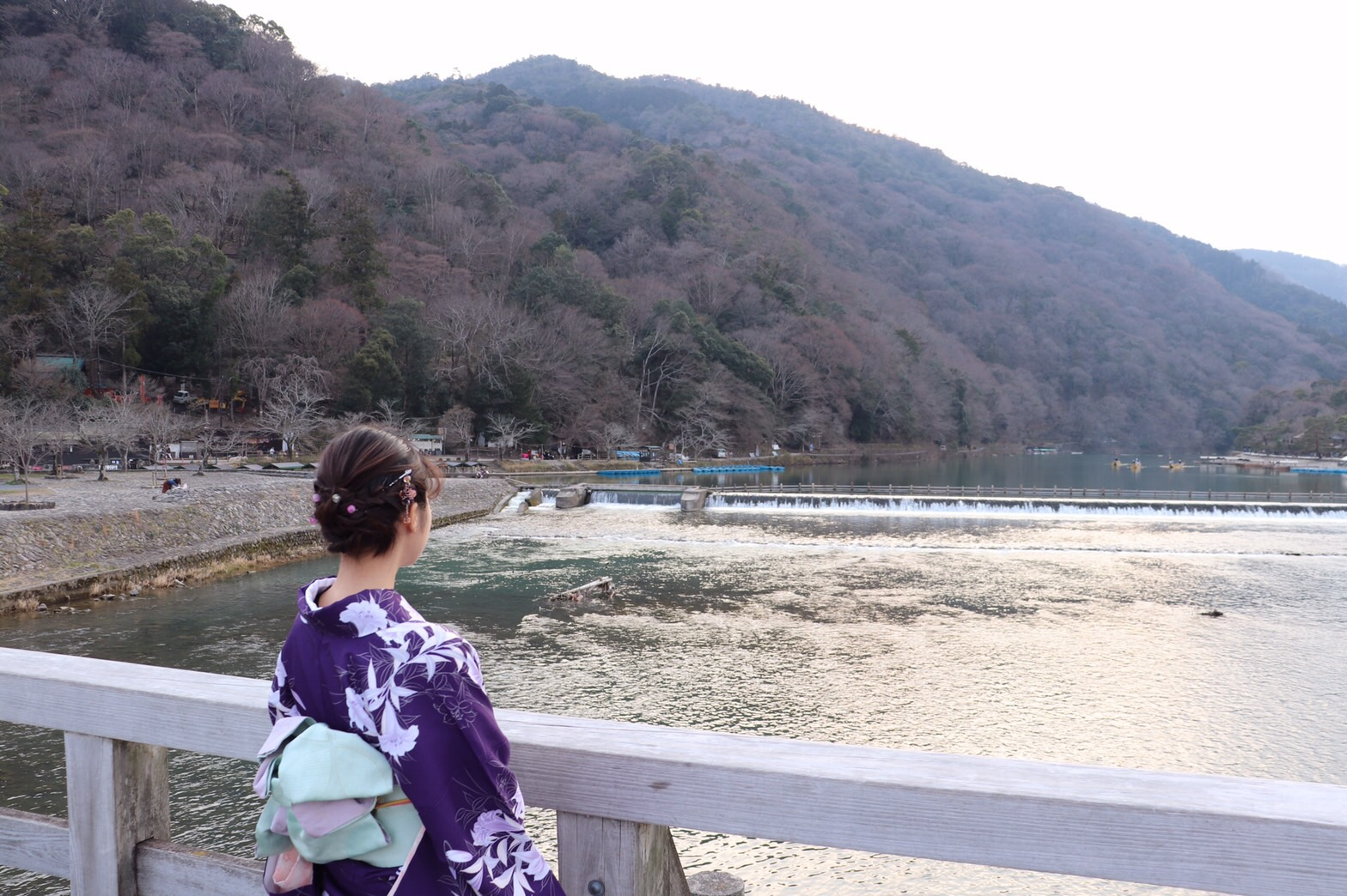 彼のお誕生日に着物で嵐山へ♡2019年3月15日18