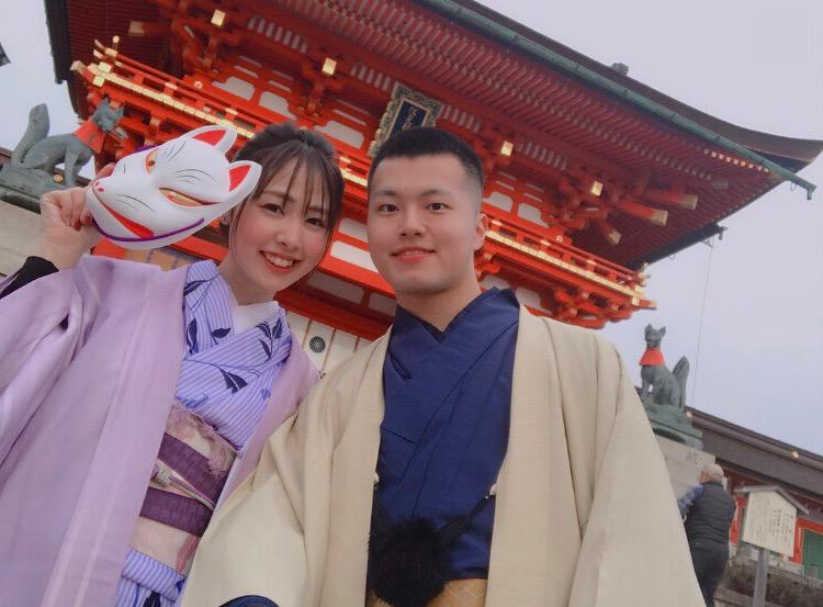 彼のお誕生日に着物で嵐山へ♡2019年3月15日13