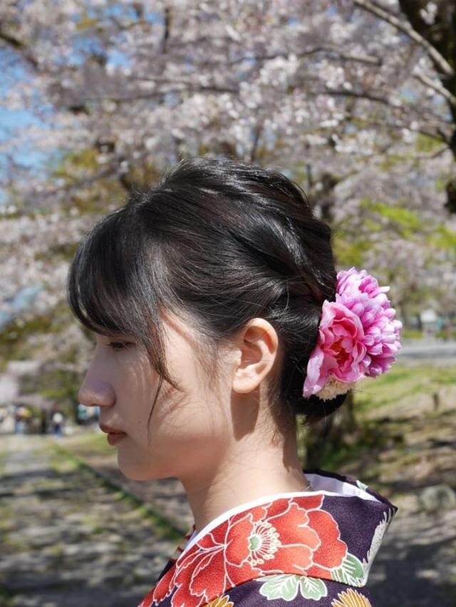 週末に京都で着物レンタル♪2019年4月13日13