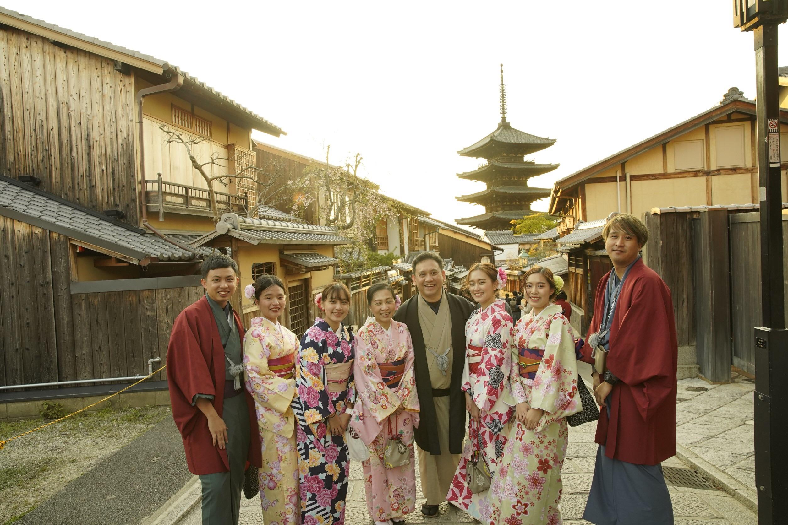タイから京都で着物体験♪2019年4月12日8
