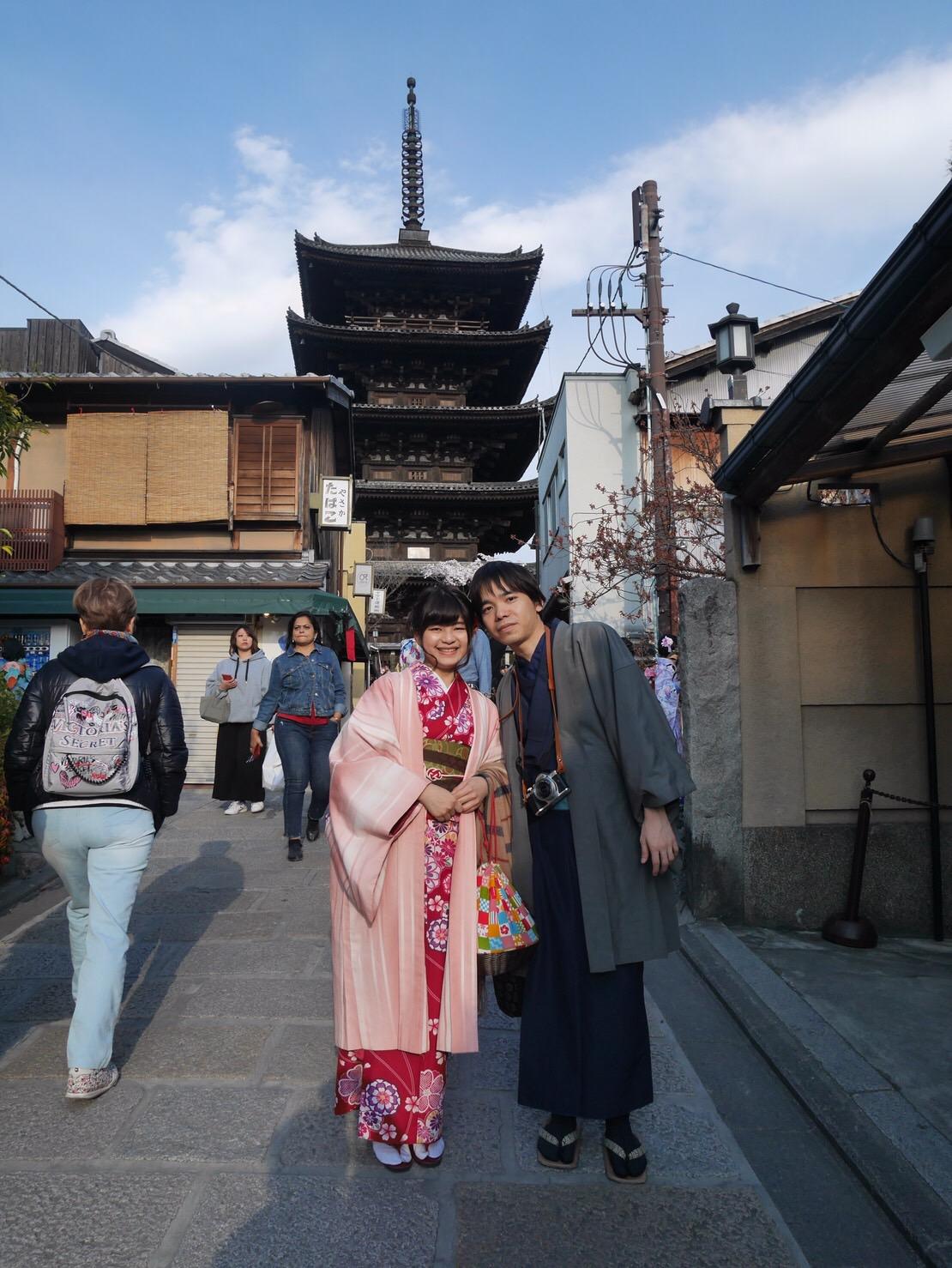 タイから京都で着物体験♪2019年4月12日10