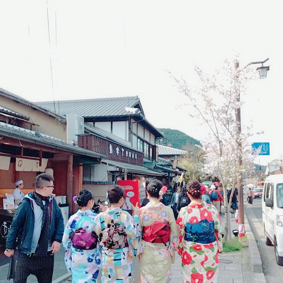 タイから京都で着物体験♪2019年4月12日1