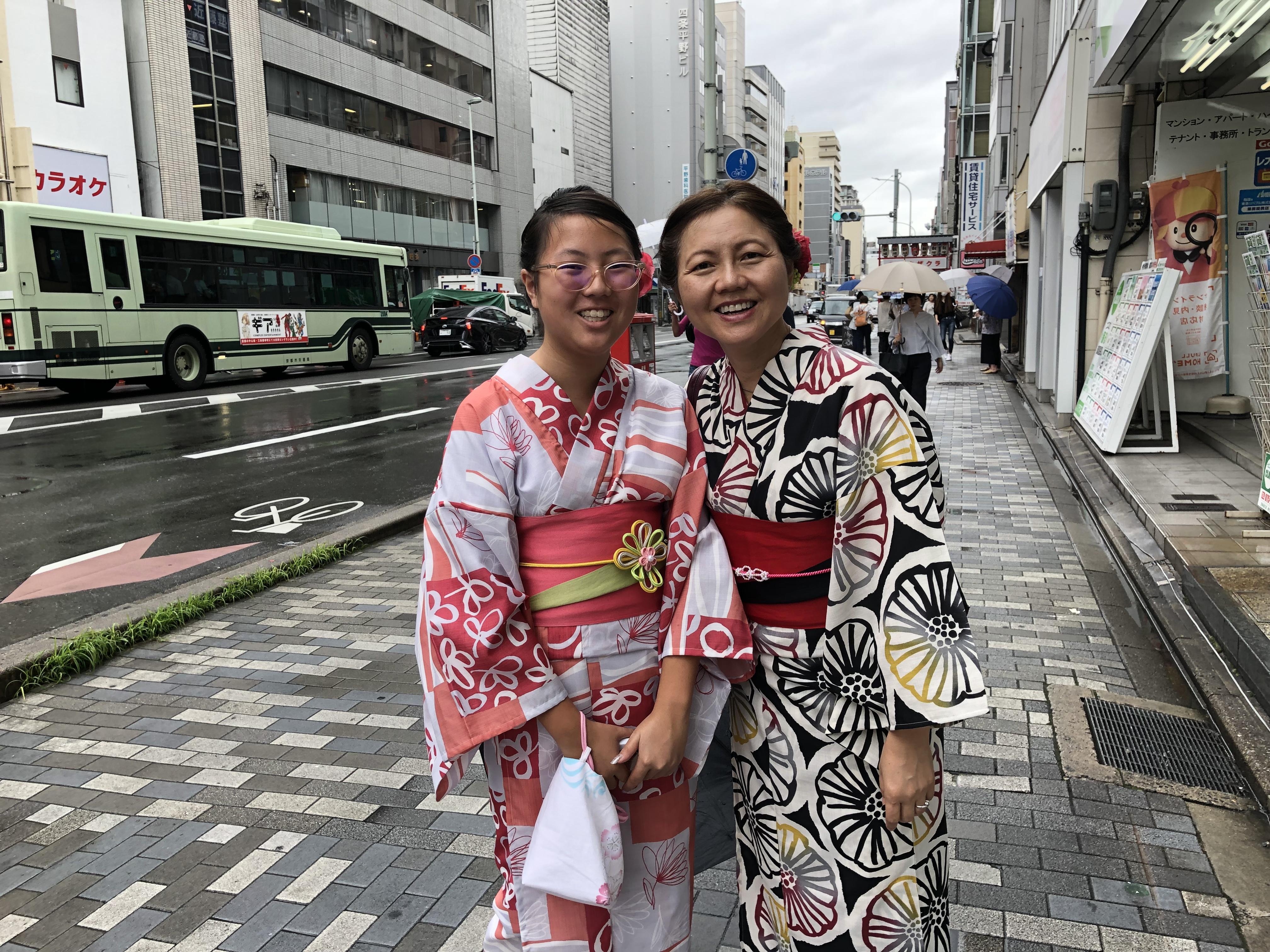 浴衣で京都の街中を散策♪2019年7月11日1