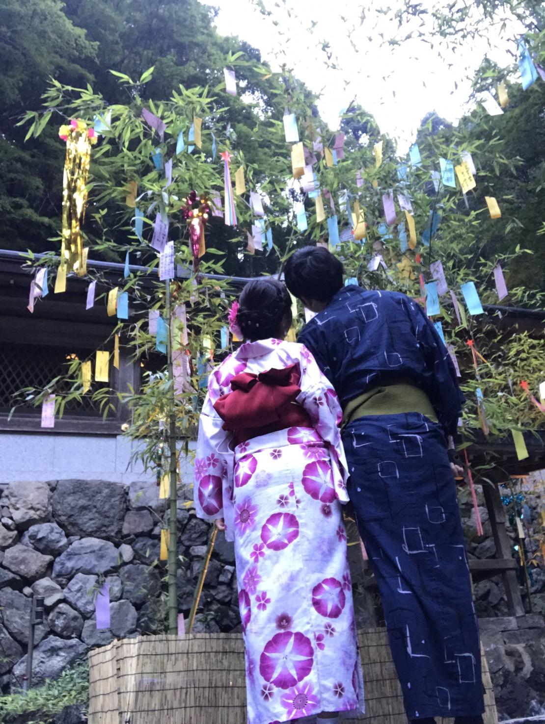 まだやっております!貴船神社 七夕笹飾りライトアップ2019年7月30日2