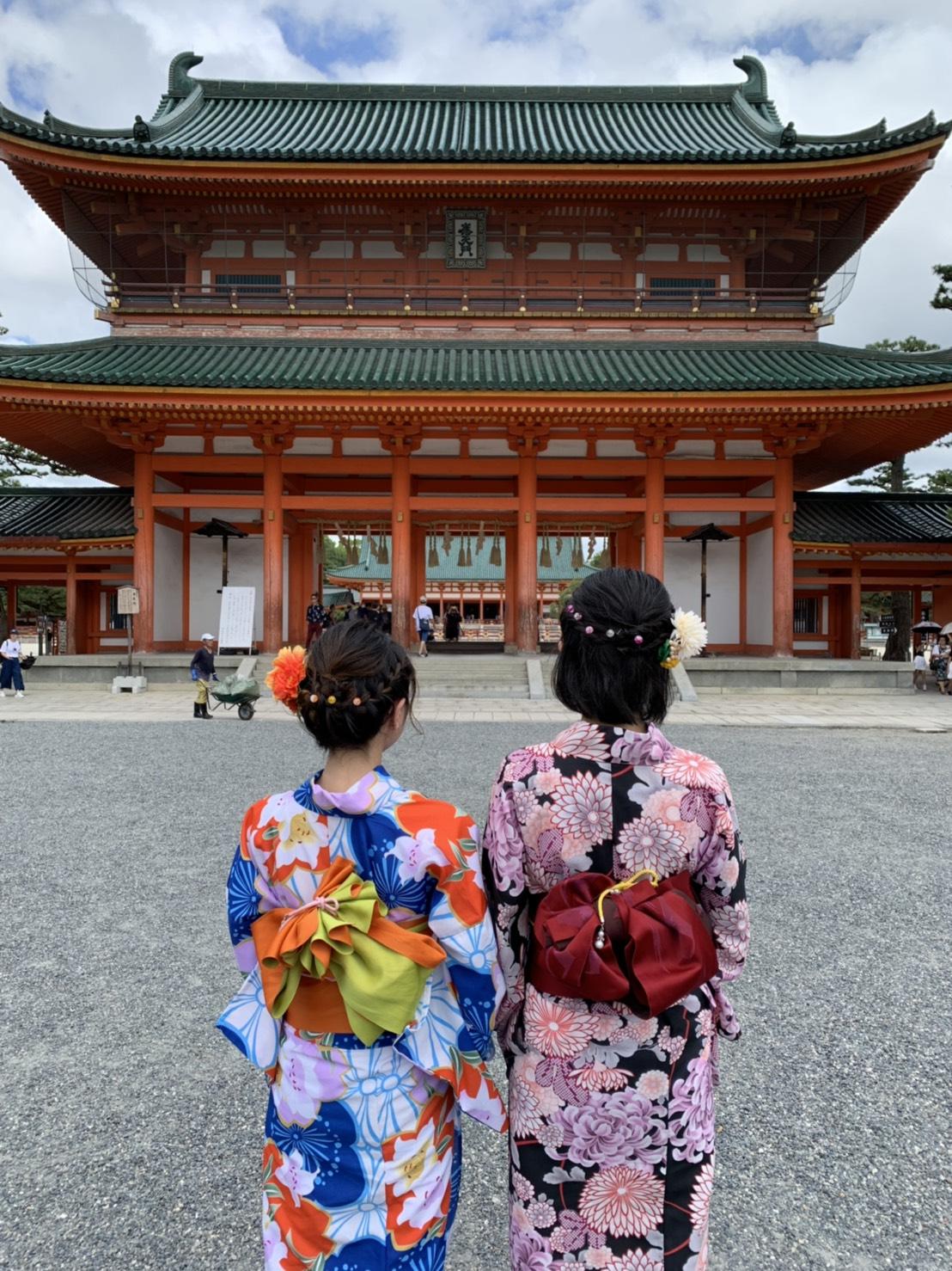 お盆休みに京都で浴衣レンタル2019年8月14日11