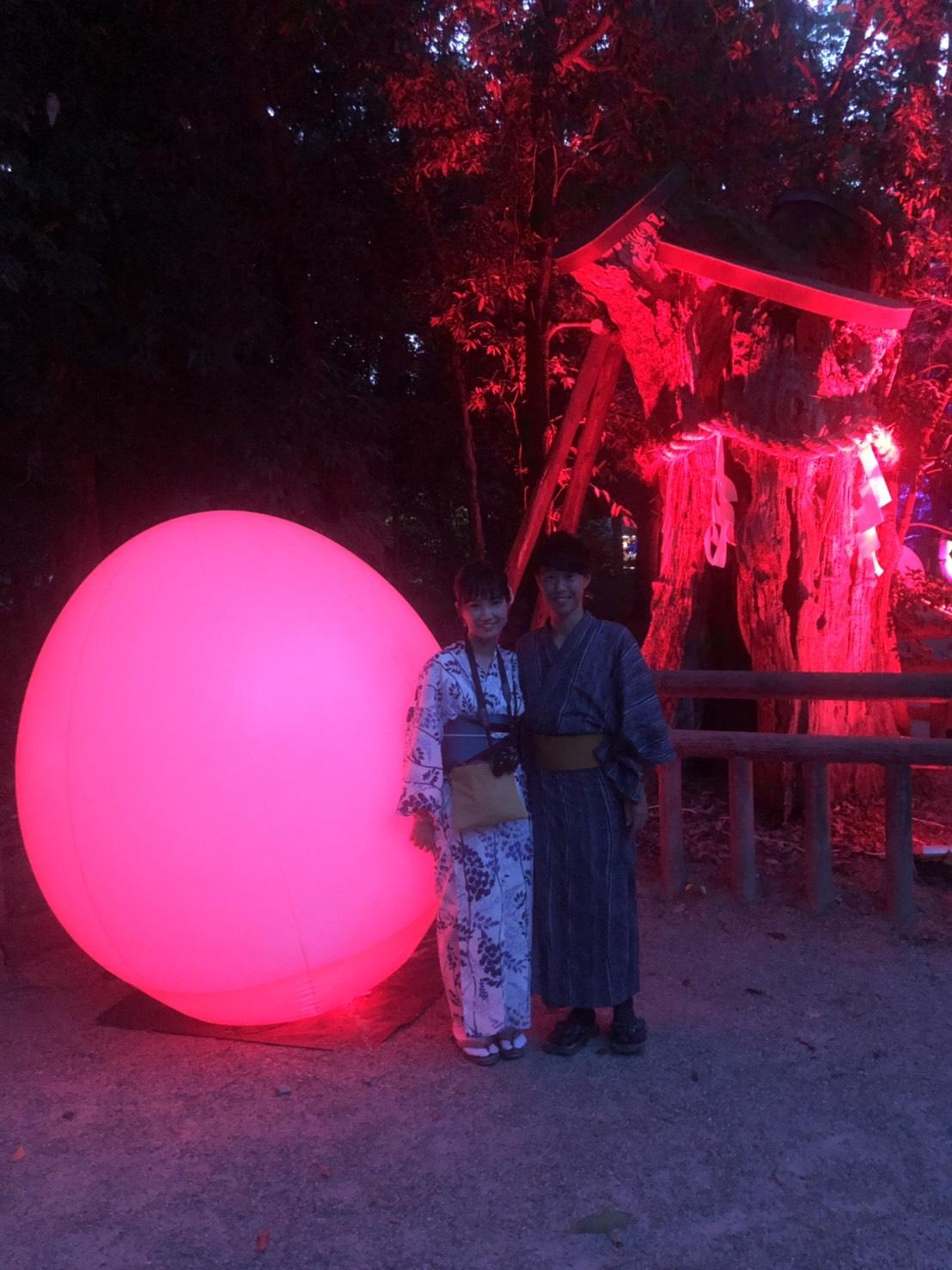 今日も糺の森の光の祭へ♡2019年8月18日6
