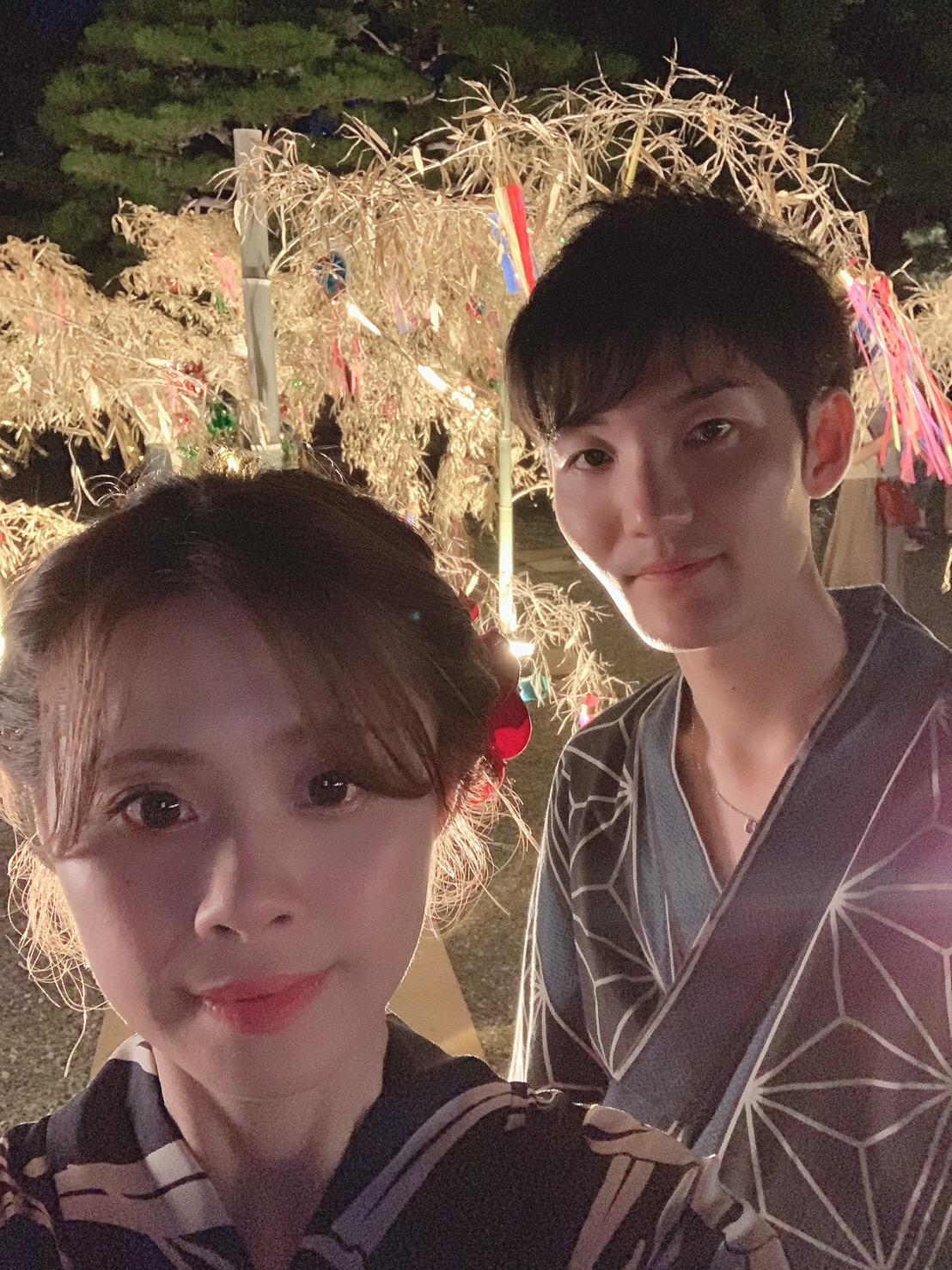 カップルで二条城「京の七夕」2019年8月6日11