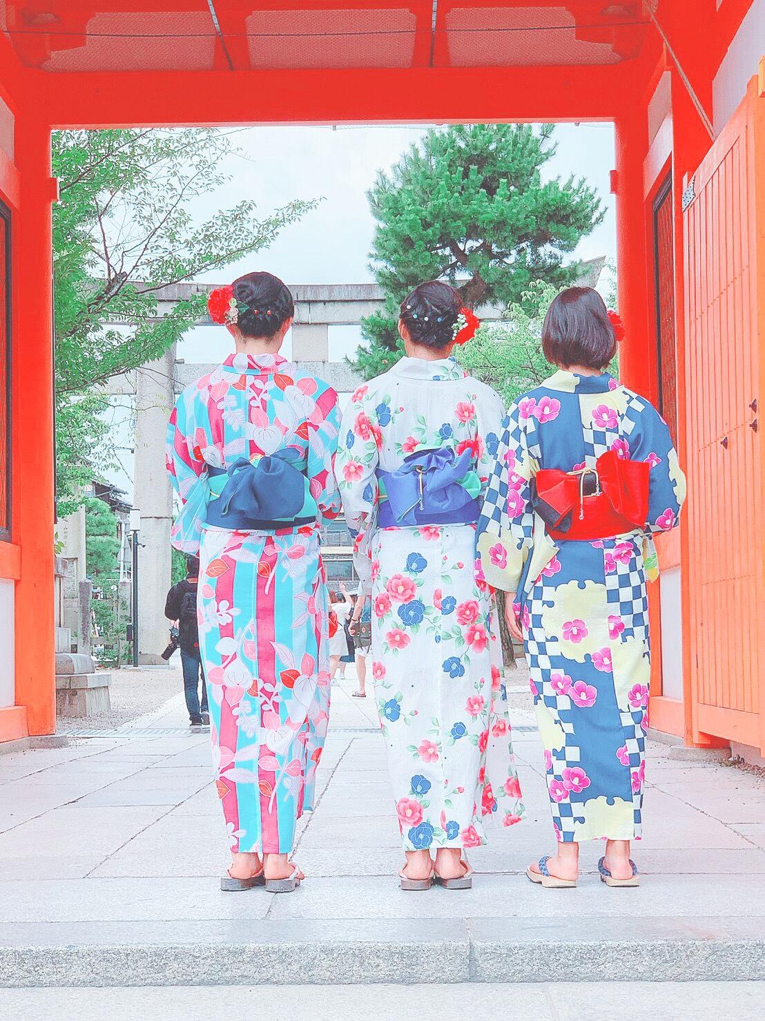 お盆休みに京都で浴衣レンタル2019年8月14日2