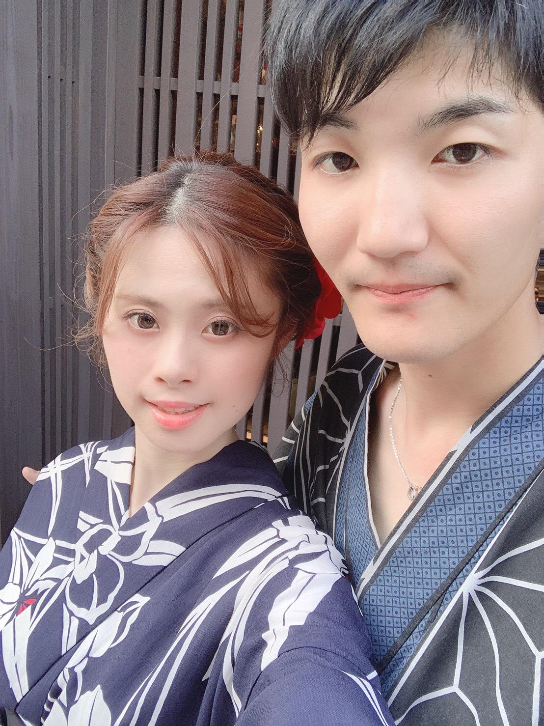 カップルで二条城「京の七夕」2019年8月6日10