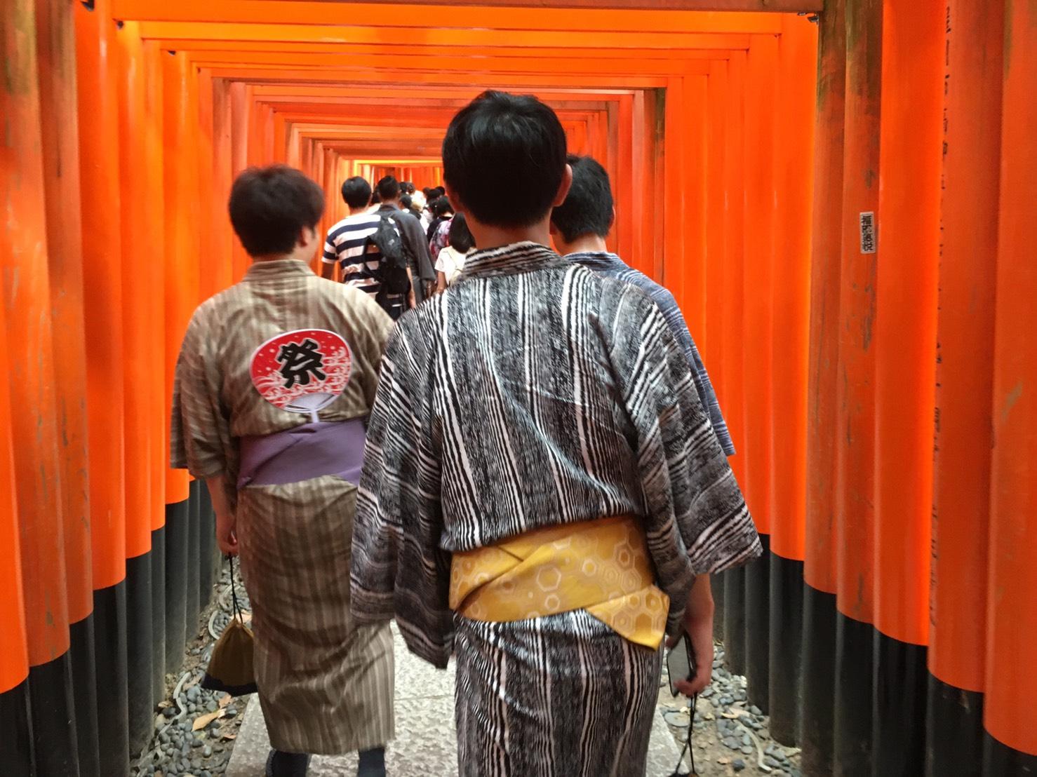 夏休みに京都で浴衣レンタル♪2019年8月12日7
