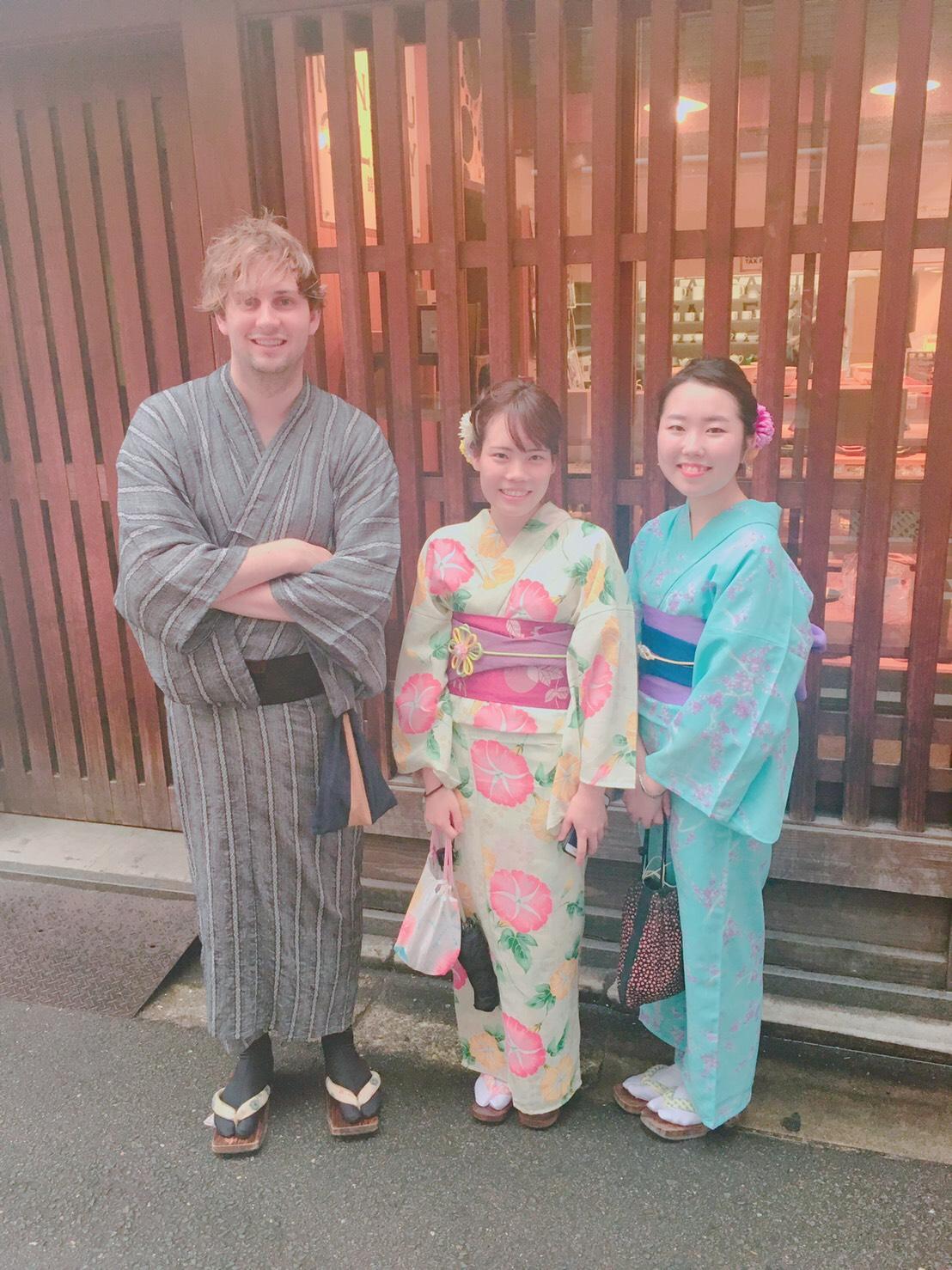 お盆休みに京都で浴衣レンタル2019年8月14日10