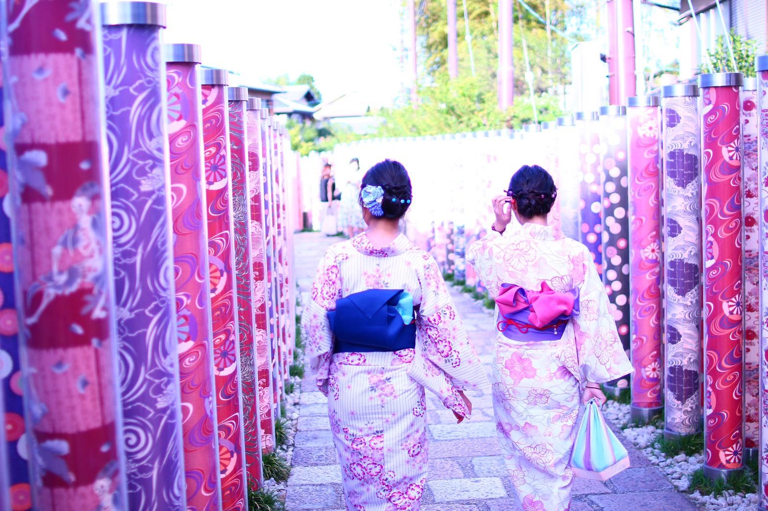 夏休みに京都で浴衣レンタル♪2019年8月12日13