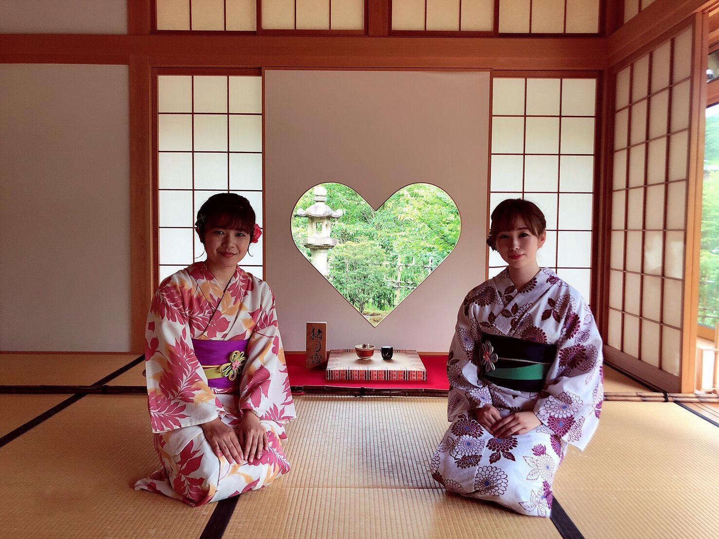 浴衣でハート型窓の正寿院へ2019年9月10日3