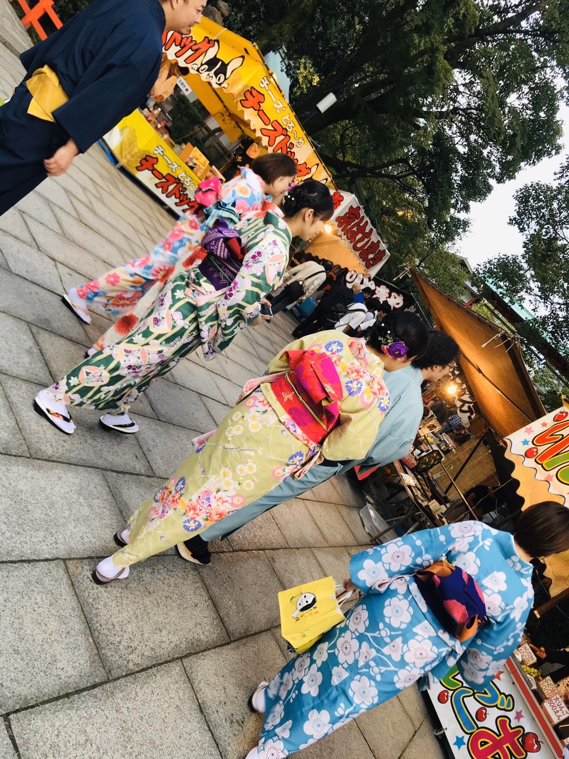 社員旅行♪京都で着物レンタル2019年10月22日7