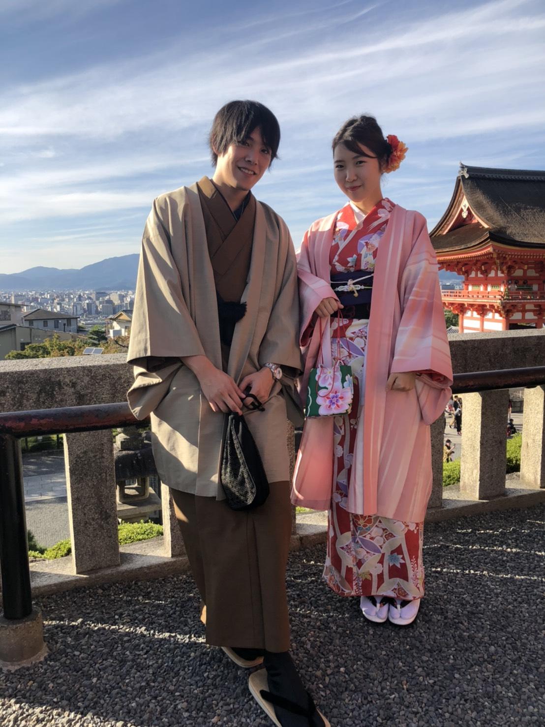 男女共に羽織姿で京都を散策♪2019年10月28日4