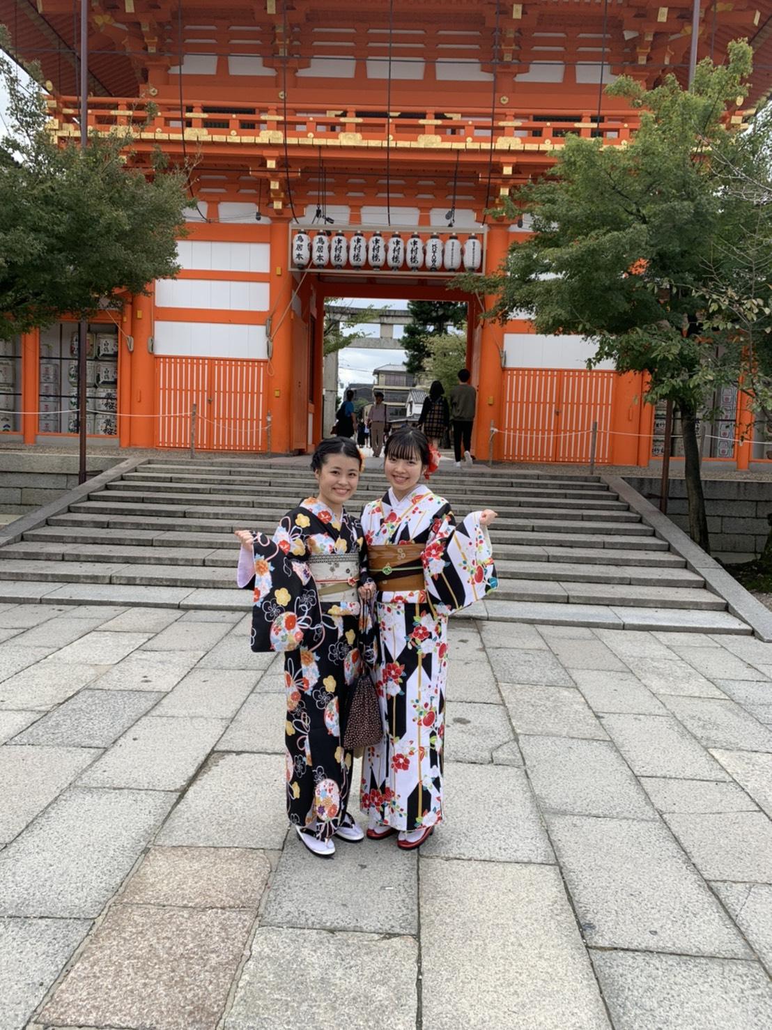 社員旅行♪京都で着物レンタル2019年10月22日5