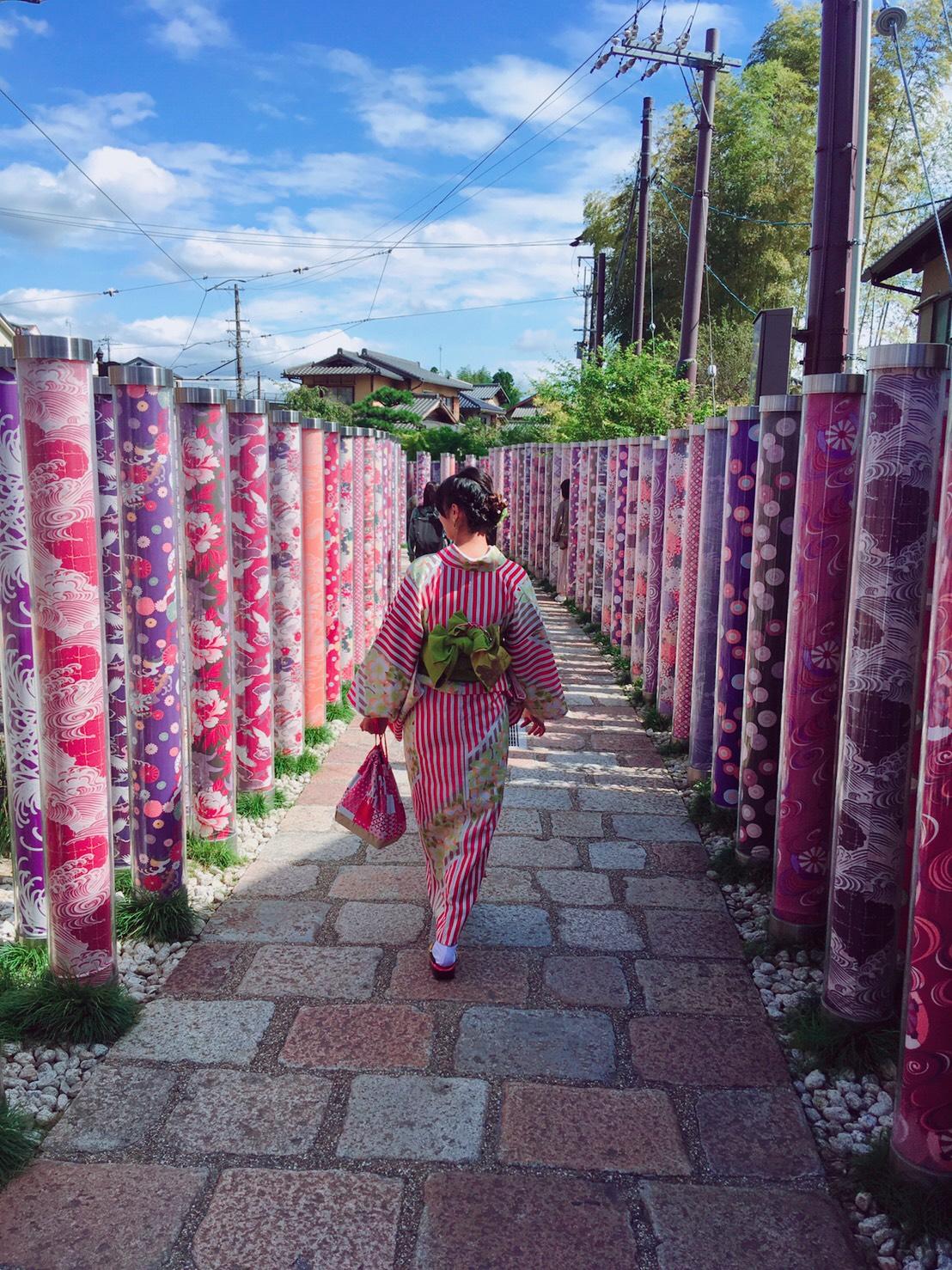 嵐山で着物デート♡2019年10月7日9