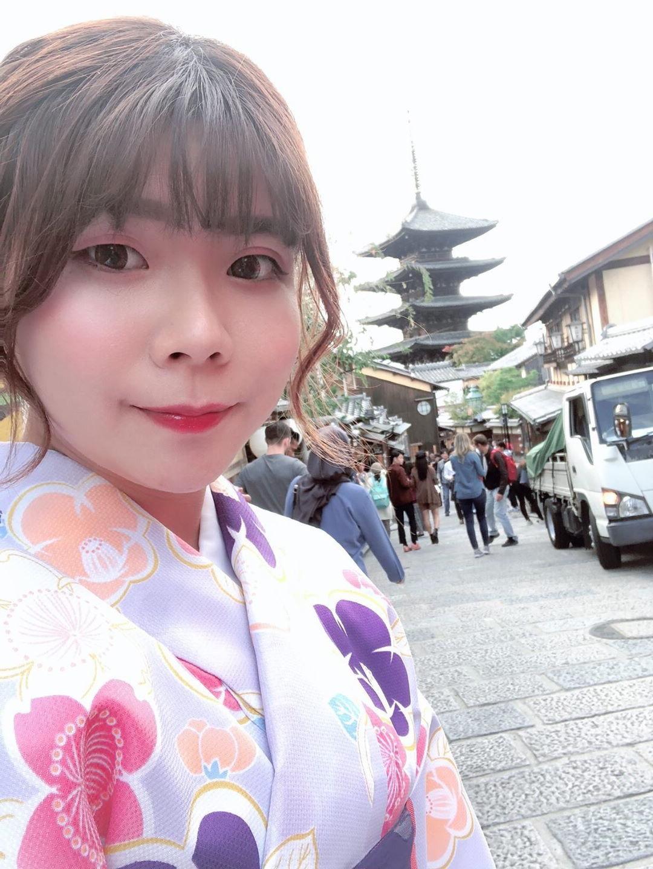 社員旅行♪京都で着物レンタル2019年10月22日4