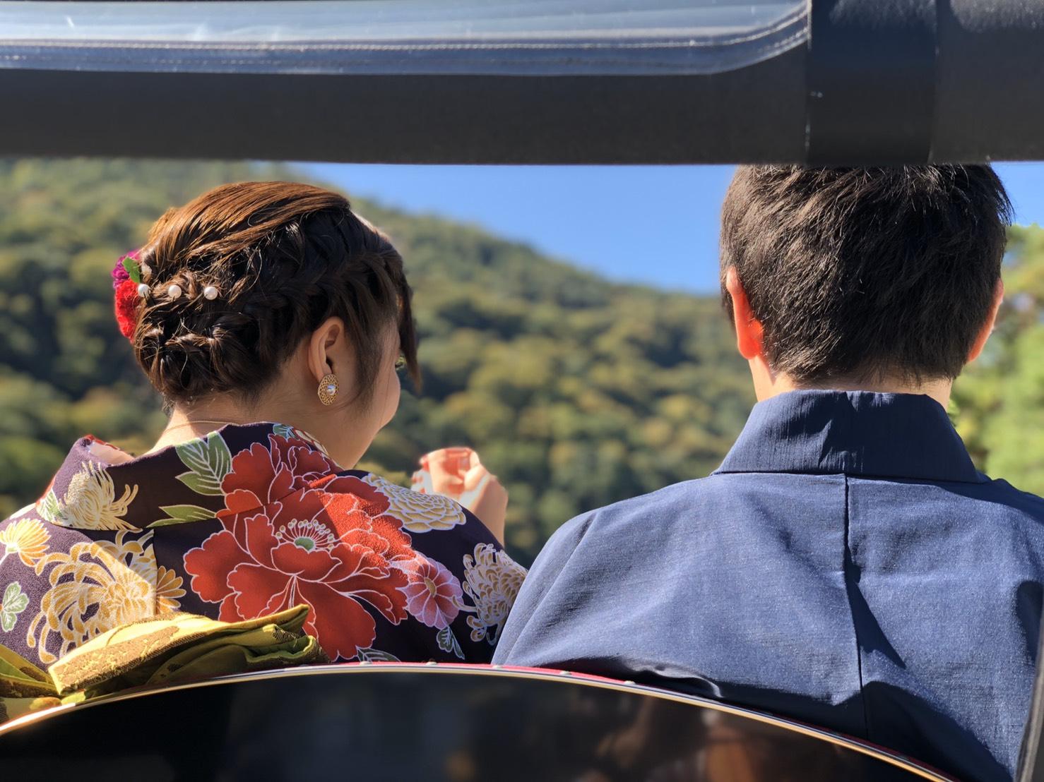 秋の嵐山 大人気です2019年10月9日1