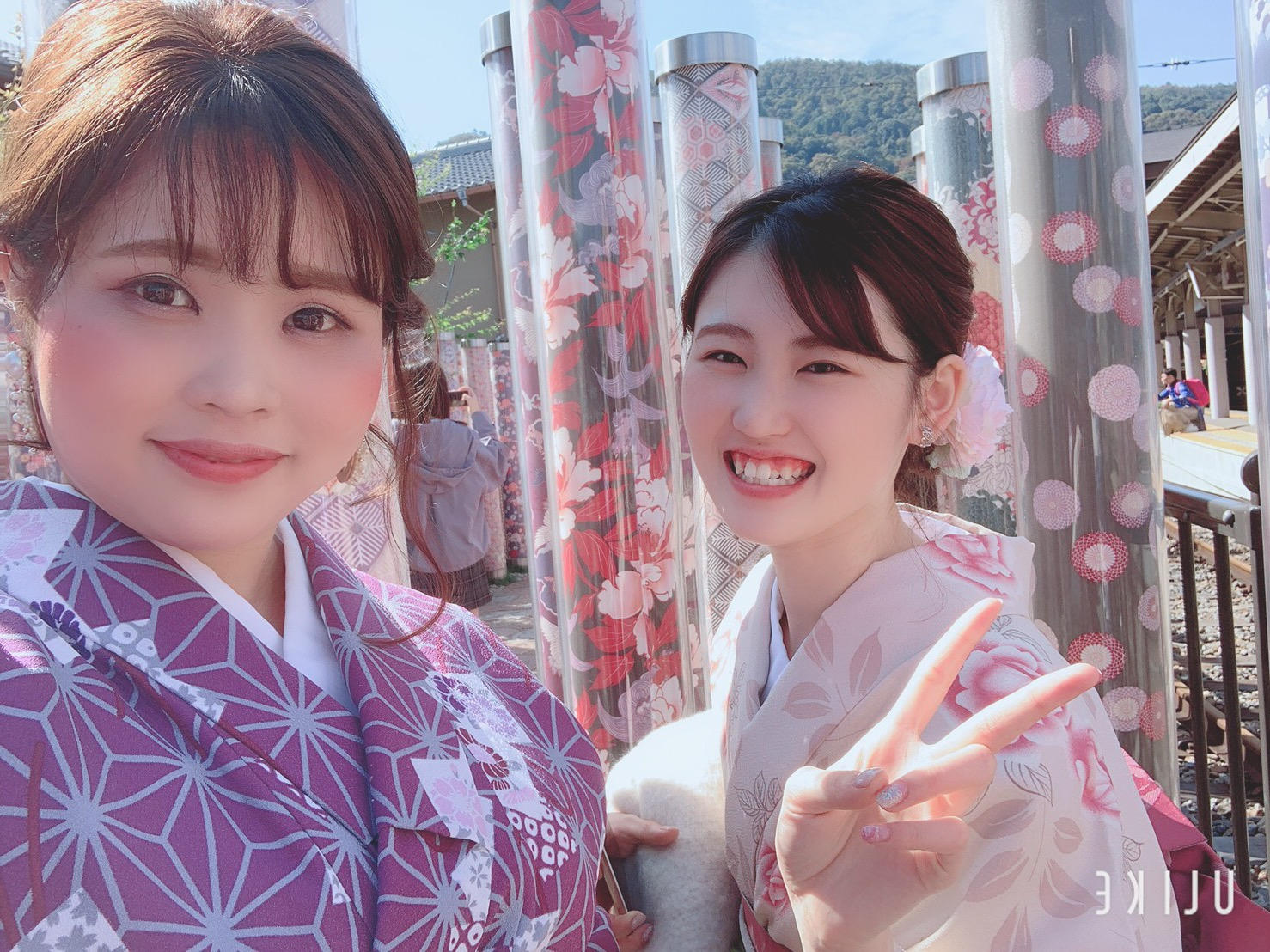 男女共に羽織姿で京都を散策♪2019年10月28日5