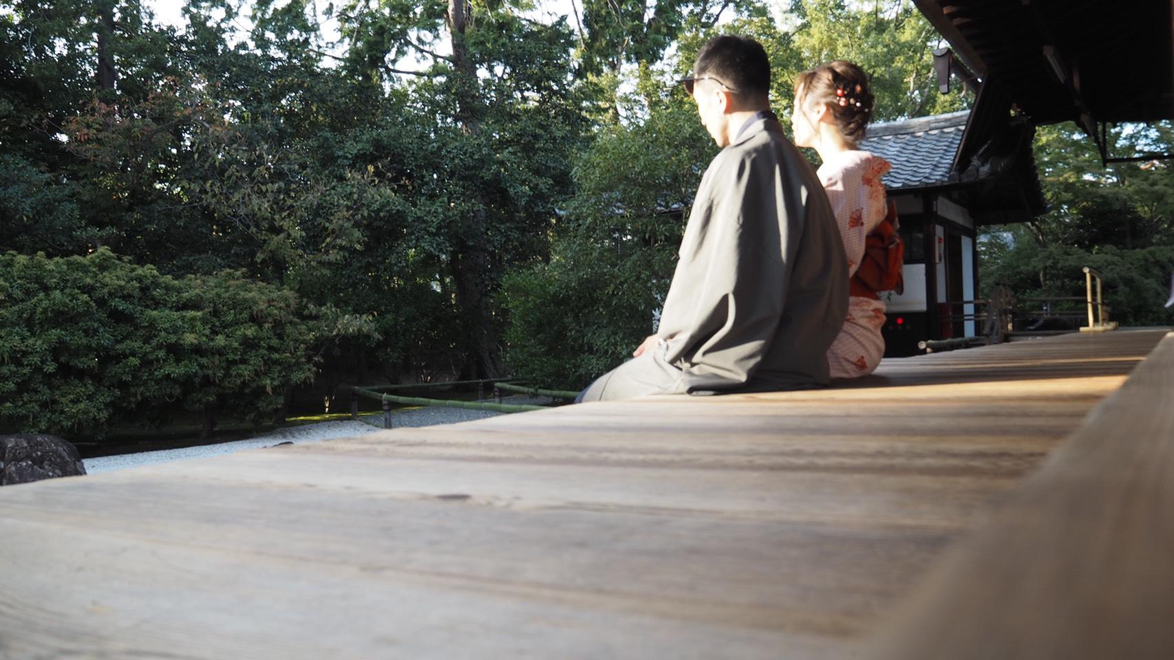 男女共に羽織姿で京都を散策♪2019年10月28日2