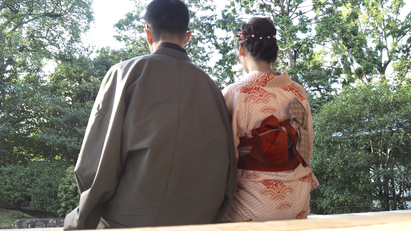 男女共に羽織姿で京都を散策♪2019年10月28日1