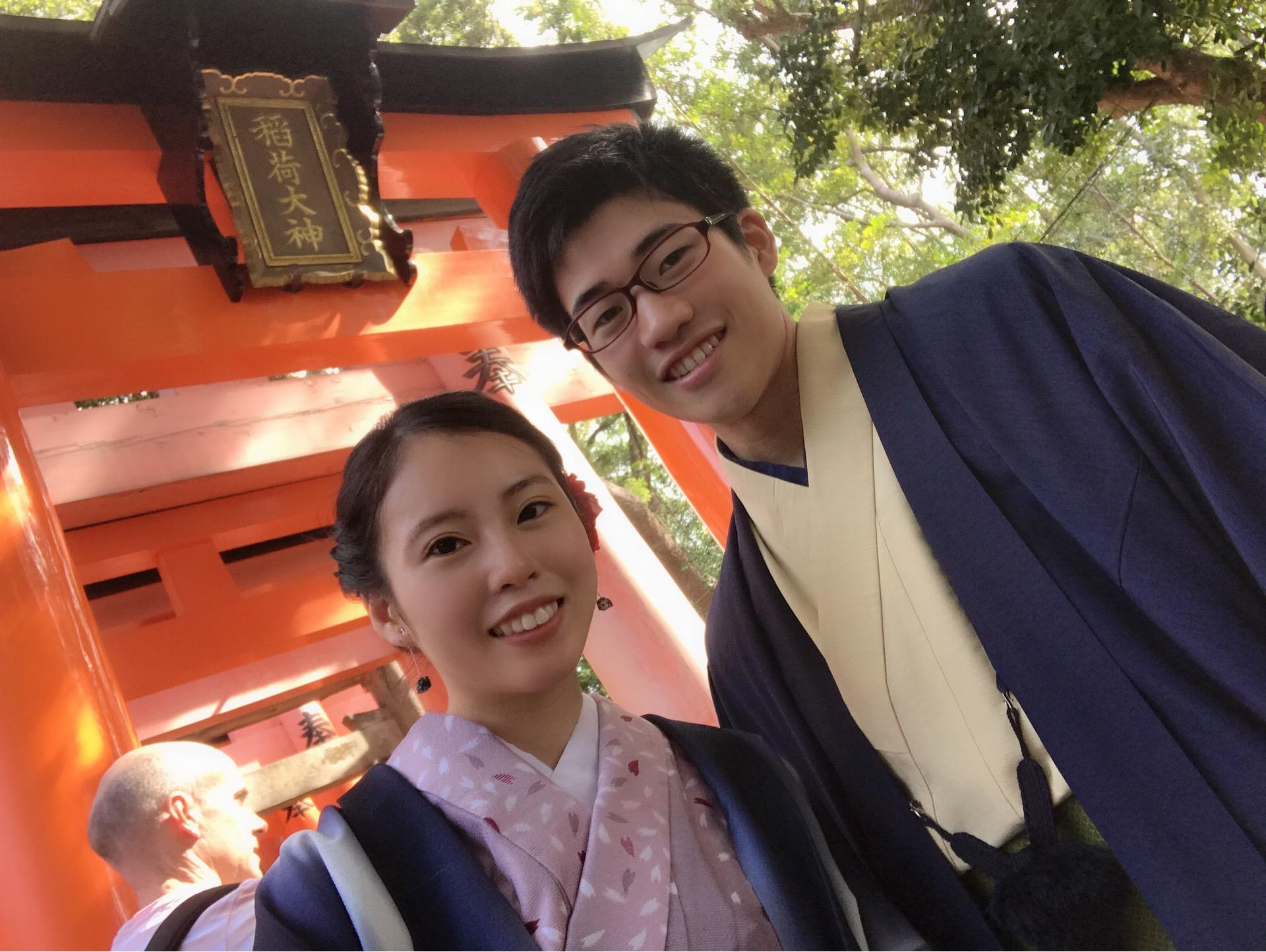 男女共に羽織姿で京都を散策♪2019年10月28日6