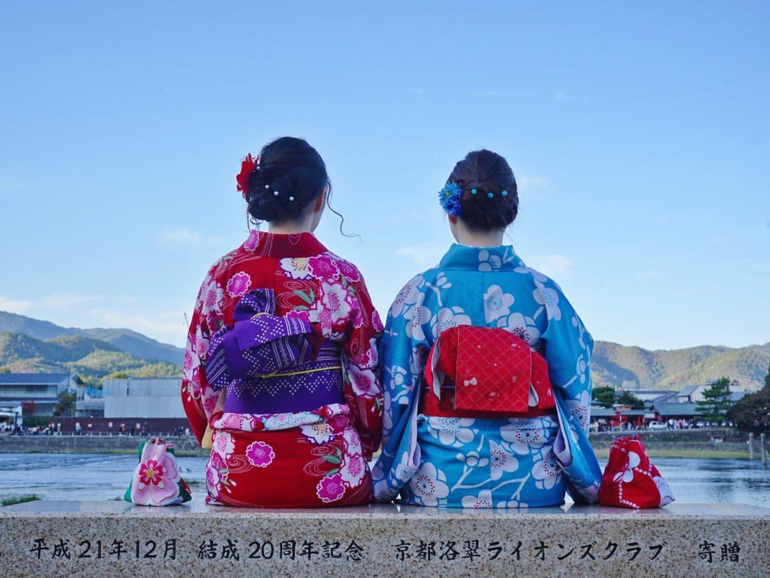 中国から着物で京都嵐山へ♪2019年11月9日15