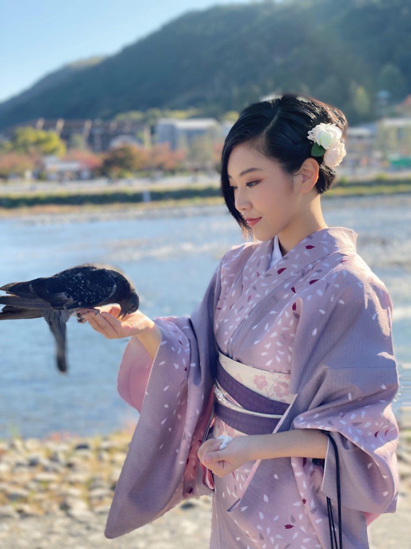 中国から着物で京都嵐山へ♪2019年11月9日8