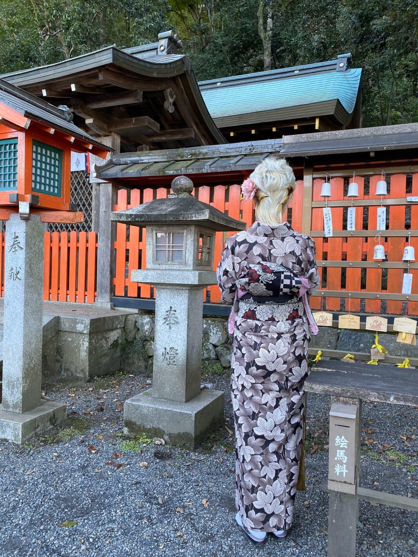 中国から着物で京都嵐山へ♪2019年11月9日9