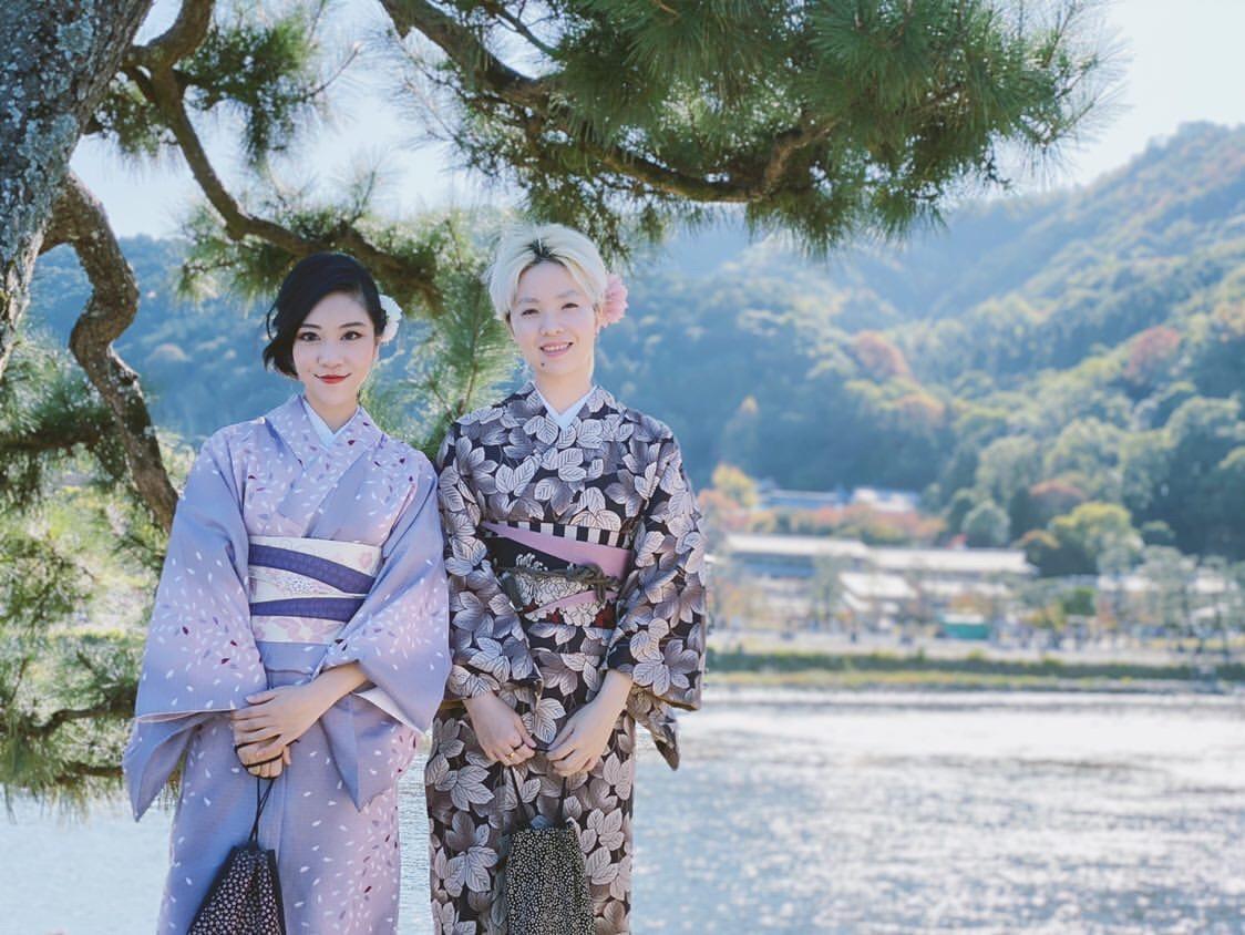 中国から着物で京都嵐山へ♪2019年11月9日7