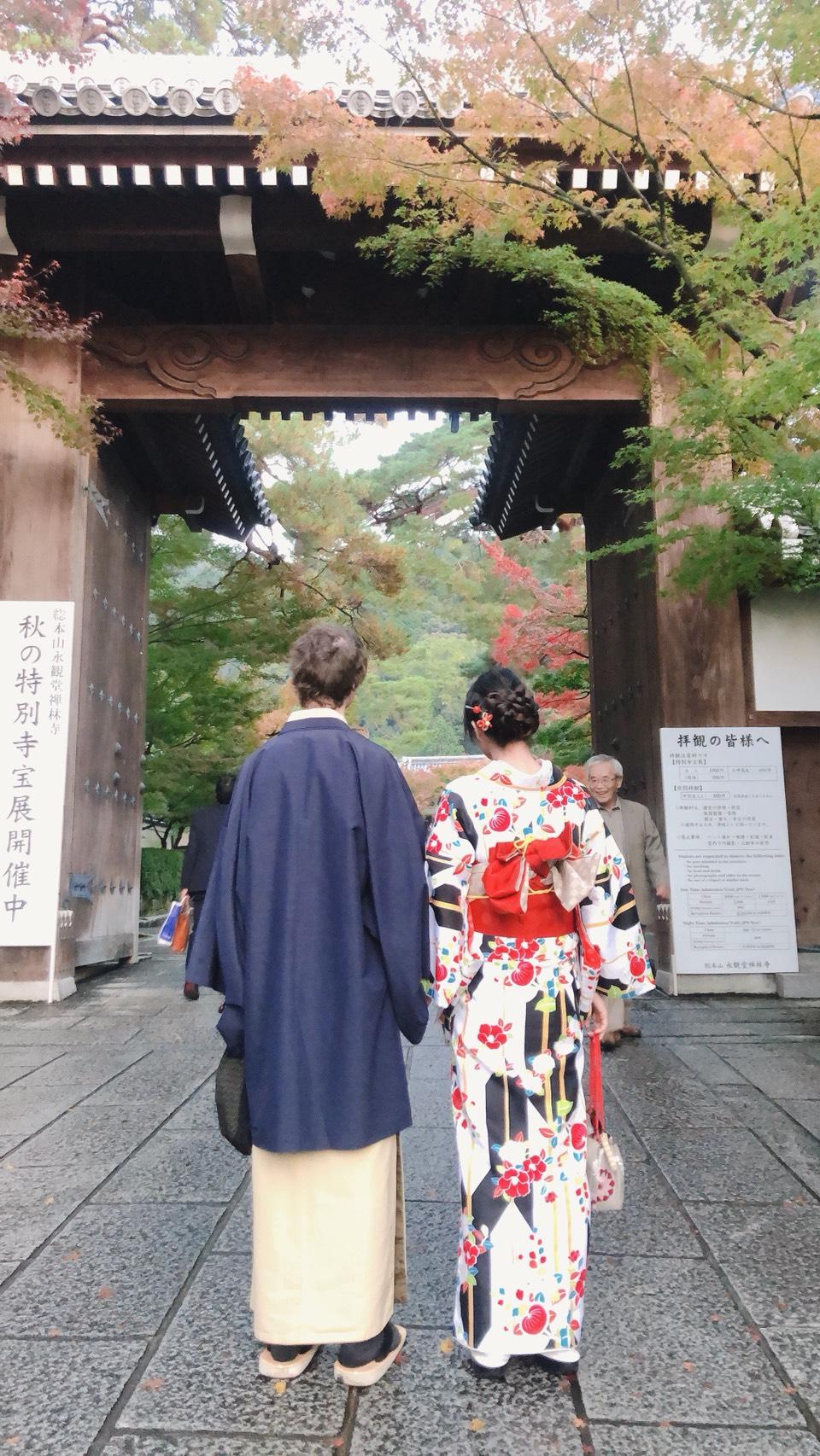 夜の京都を着物で2019年11月11日5