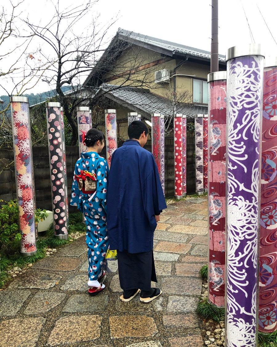 冬休みに着物で嵐山へ♪2019年12月30日2