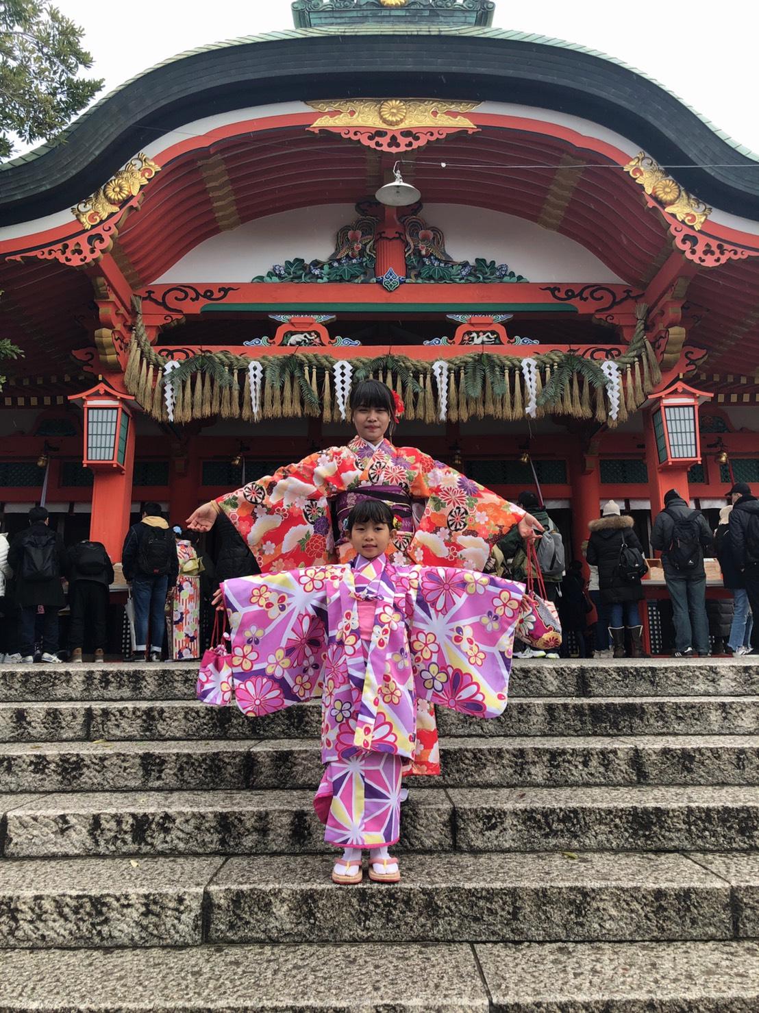 年末に京都で着物レンタル2019年12月27日1